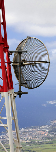 Point-to-Point Microwave Dish Antenna Installation